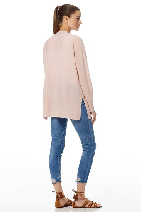 360 Cashmere - Michaela Cardigan in Honey Pink