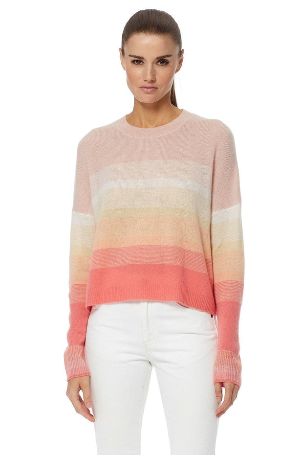 360 Cashmere - Russet Sweater in Papaya/Honey Pink Ombre