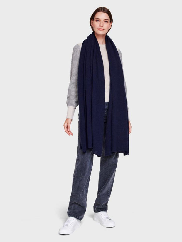 White + Warren - Travel Wrap in Deep Navy