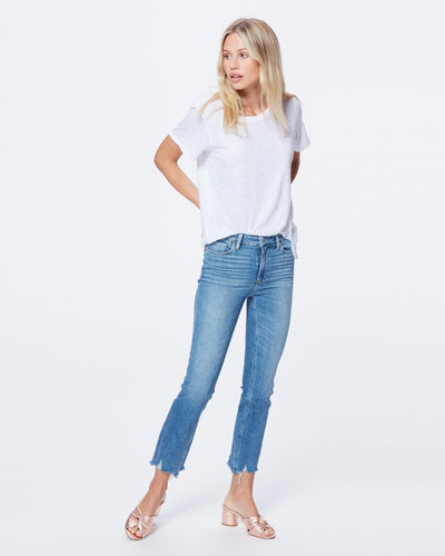 Paige - Cindy Mel High Rise Jeans with Destroyed Hem