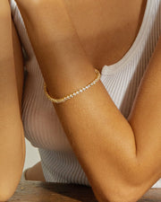 LUV AJ - The Ballier Bracelet 3mm Round in Gold