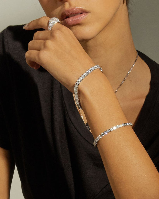 LUV AJ - The Ballier Bracelet 3mm Round in Silver