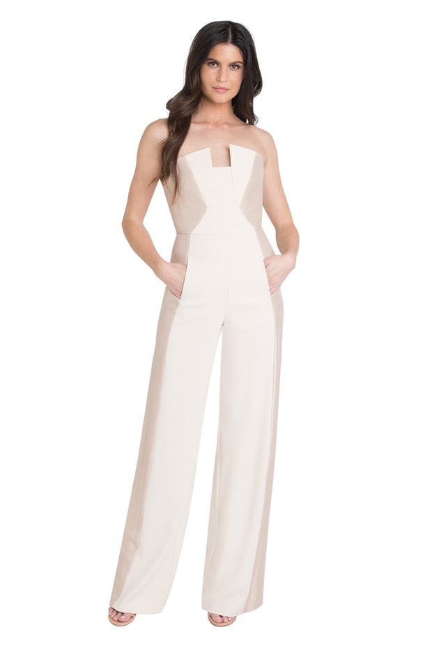 68a909321a4 Black Halo - Lena CB Jumpsuit in Champagne Buttercream