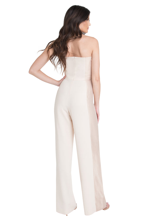 Black Halo - Lena CB Jumpsuit in Champagne Buttercream