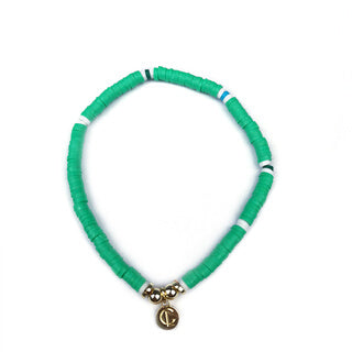 Caryn Lawn - Skinny Disc Bracelet in Green