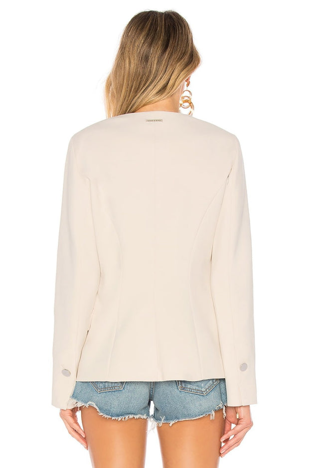 Soia & Kyo - IMMA Collarless Slim Fit Blazer in Shell