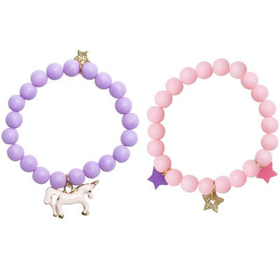 Henny & Coco - Ella Pink & Purple Girls Bracelet Set