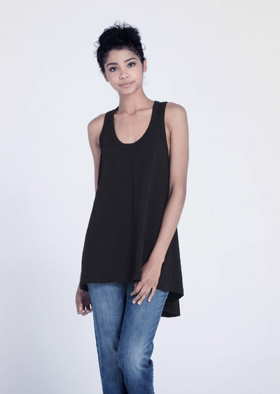 Wilt - Hi Lo Tank Top Black