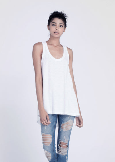 Wilt - Hi Lo Tank Top White