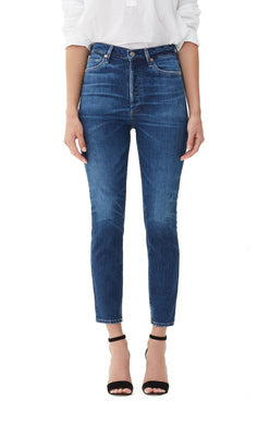 Citizens of Humanity - Olivia Crop High Rise Slim Jeans in Reset wash