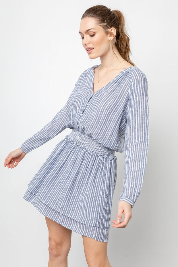 Rails - Jasmine Linen Dress in Tibet Stripe