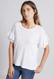 Current Elliott - The Ruffle Roadie Tee Sugar