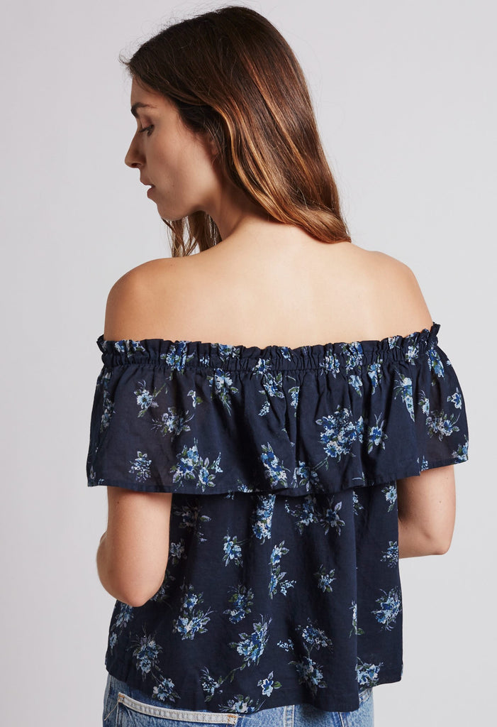 Current Elliott - The Ruffle Top w/ Lining Tossed Floral