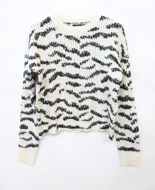 LINE - Karine Animal Print Sweater in Zebra