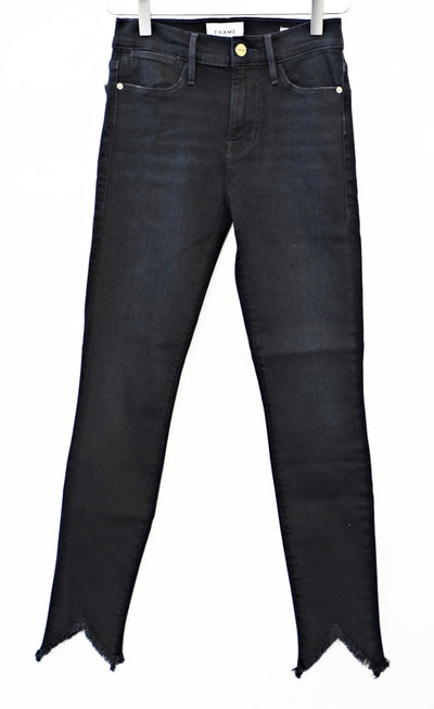 FRAME Denim - Le High Skinny Double Triangle Raw Jeans in Keen