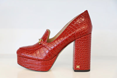 Sam Edelman - Aretha Red Croc Patent Leather