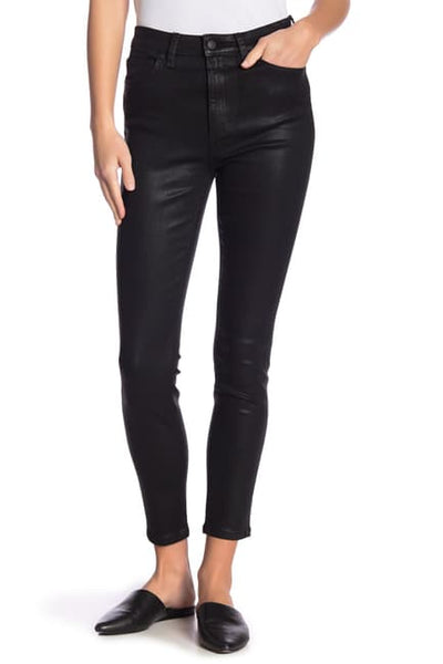 Joes - Skinny Ankle in Leather Jet Black