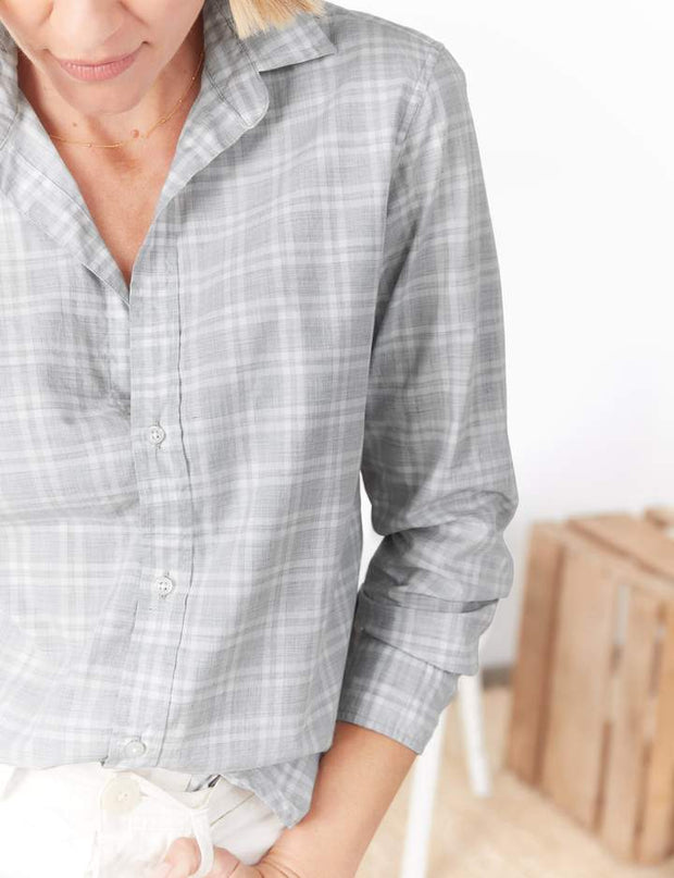 Frank & Eileen - Frank Button-Down Shirt in Heather Grey Plaid