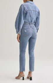 AGOLDE - Nico High Rise Slim Fit Jeans in Rooted