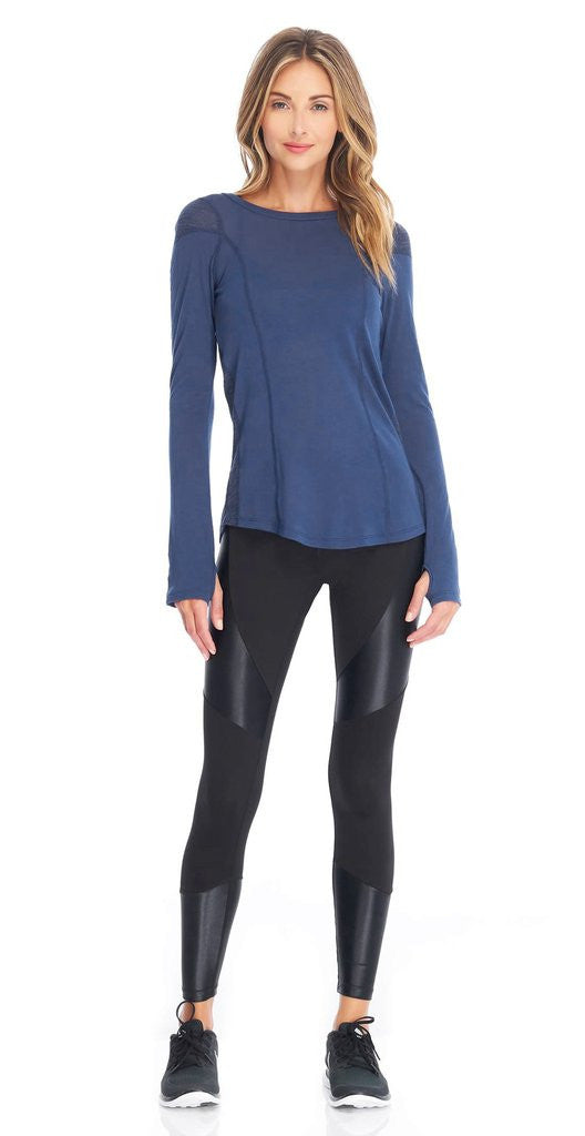 Koral Koral- Forge Mid Rise Legging Black at Blond Genius - 1