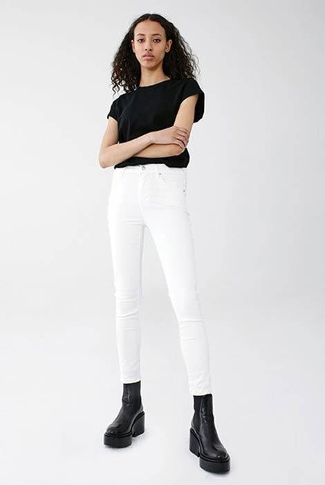 AGoldE - Sophie High Rise Skinny Crop in Offspring