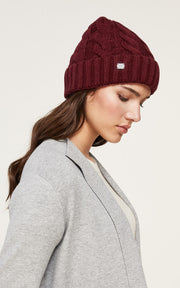 Soia & Kyo - Amalie Hat in Oxblood Fur Pom