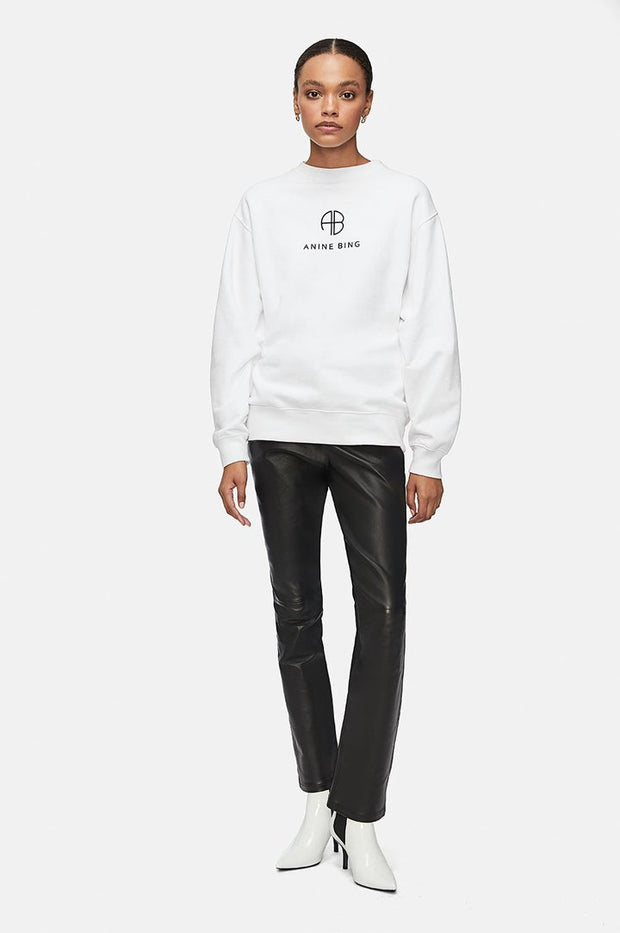 Anine Bing - Ramona Sweatshirt Monogram in White