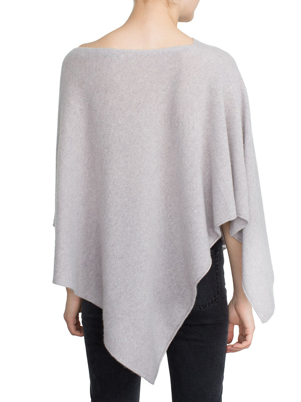 White + Warren Asymmetrical Poncho Jet Black at Blond Genius - 2
