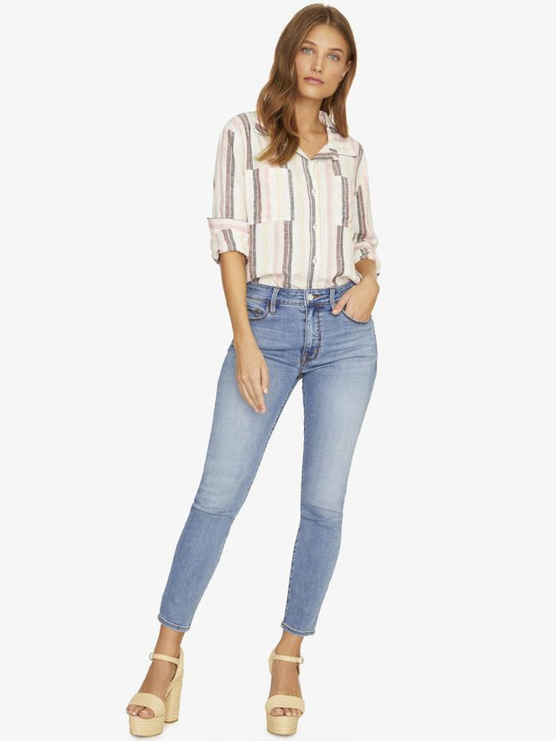 Sanctuary - Favorite Boyfriend Shirt Sunset Stripe