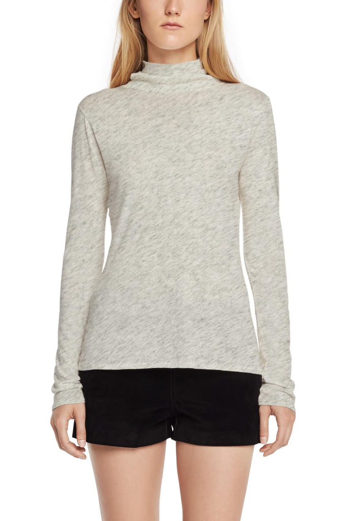 Rag & Bone Rag & Bone- Base Turtleneck Heather Grey at Blond Genius