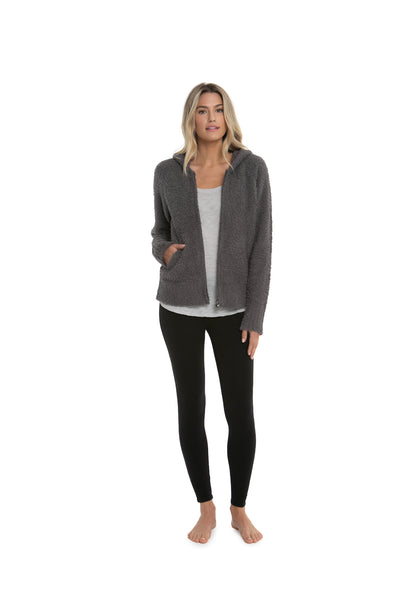 Barefoot Dreams - Cozychic Women's Relaxed Zip-Up Hoodie in Ash