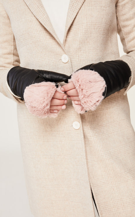 Soia & Kyo - Betrice Leather Mittens in Black