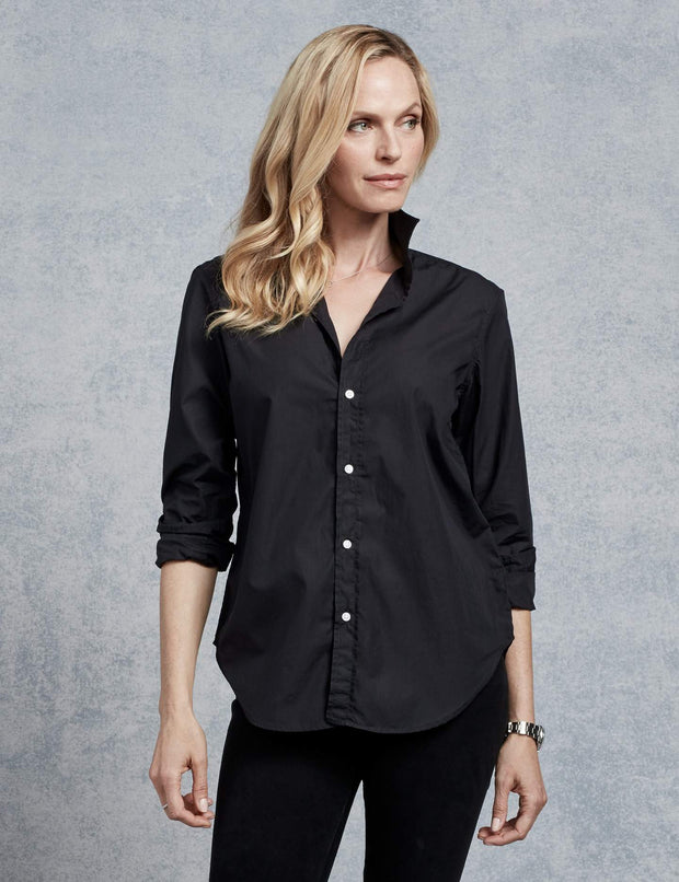 Frank & Eileen - Women L/S Button Down in Black Super Fine
