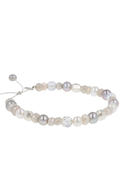 Chan Luu - Light Grey Mix Pull-Tie Bracelet