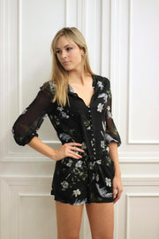 Joie Sarnelle Romper Caviar at Blond Genius - 1