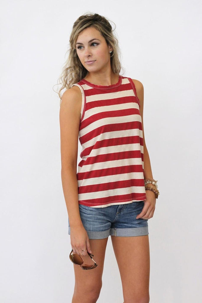 Current/Elliott The Cross Back Muscle Tee at Blond Genius