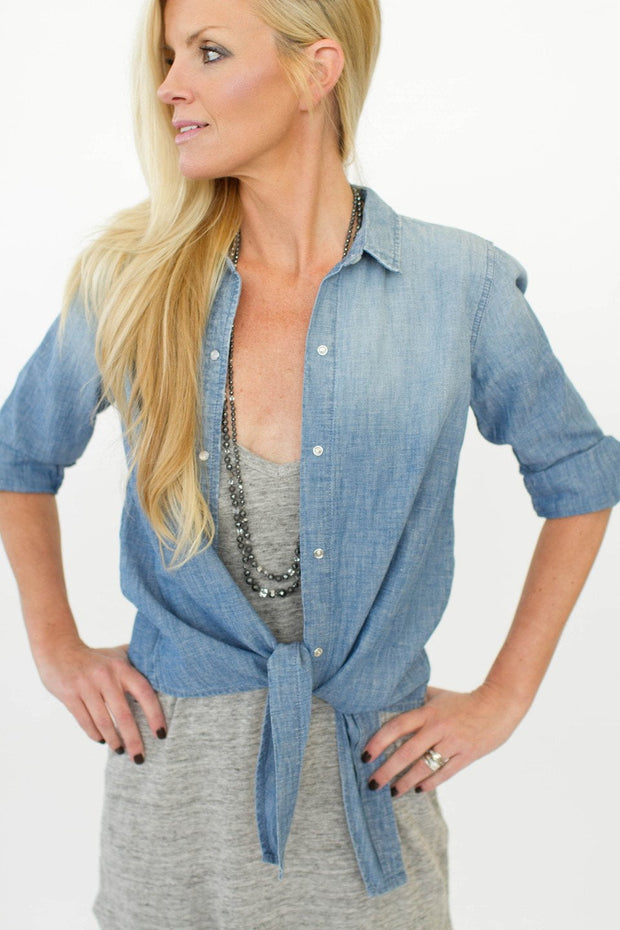 Current/Elliott The Western Tie Front Top at Blond Genius