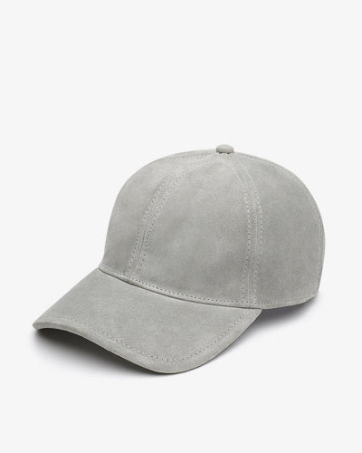 Rag & Bone - Marilyn Baseball Cap in Grey Suede