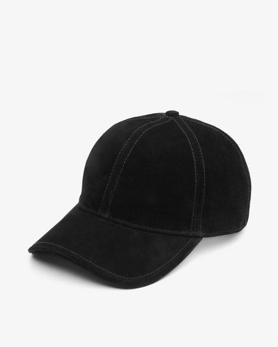 Rag & Bone - Marilyn Baseball Cap in Black Suede