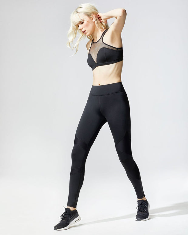MICHI - Moto Zip Legging in Black