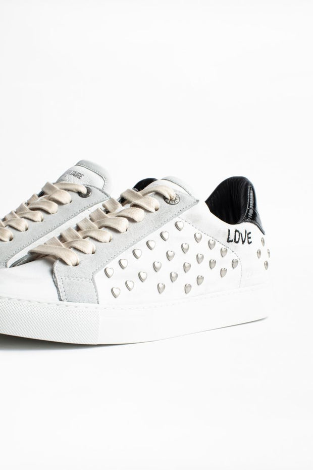 Zadig & Voltaire - White Heart Sneakers in Blanc