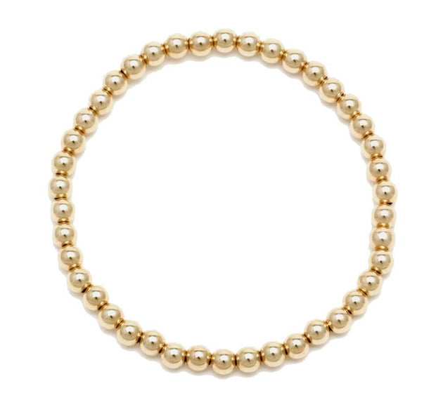 Alexa Leigh - 4MM Yellow Gold Ball Bracelet