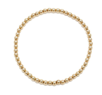 Alexa Leigh - 3MM Yellow Gold Ball Bracelet