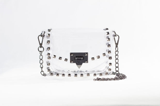Clearly Handbags - Jackie see-through bag in Gunmetal