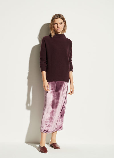 Vince - Funnel Neck Pullover in Dahlia Wine