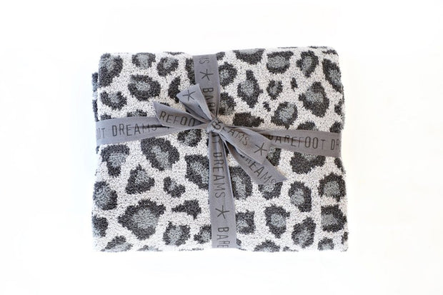 BAREFOOT DREAMS - Cozychic Safari Blanket in Dove Gray Multi