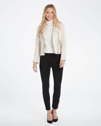 Spanx - Backseam Skinny Leggings in Ponte Black