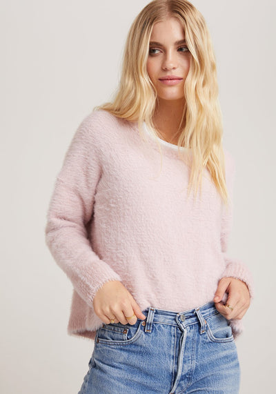 Bella Dahl - Slouchy Sweater in Blush Pink