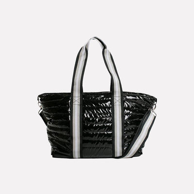 Think Rolyn - Wingman Black Patent Tote Bag