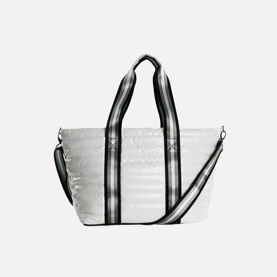Think Rolyn - Wingman White Patent Tote Bag
